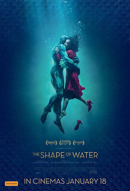 Póster La Forma del Agua en Lista de películas ciencia ficción románticas