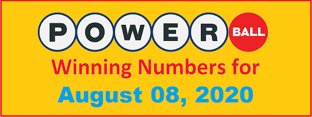 PowerBall Winning Numbers for Saturday, August 08, 2020