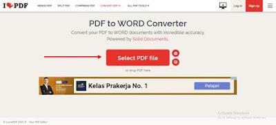 Gambar ilustrasi mengunggah file PDF
