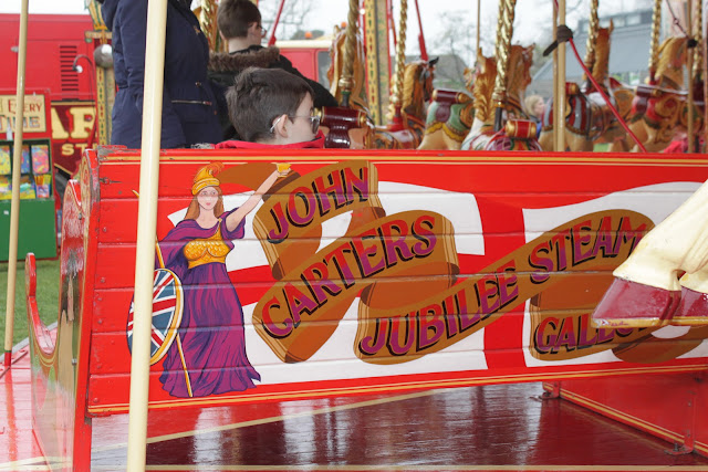 Art work on the Carters Steam Fair Steam Gallopers ride.