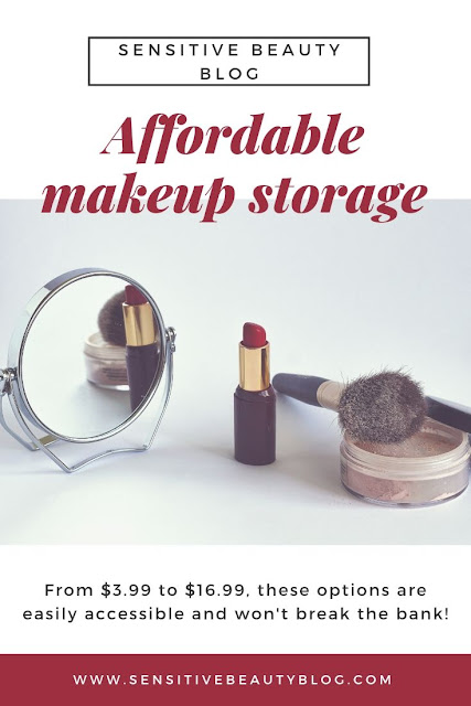 Affordable Makeup Organization Ideas, organize your makeup collection, cheap makeup collection storage/organization