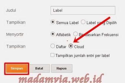 Cara ModifikasI Tampilan Label Widget Blog Keren