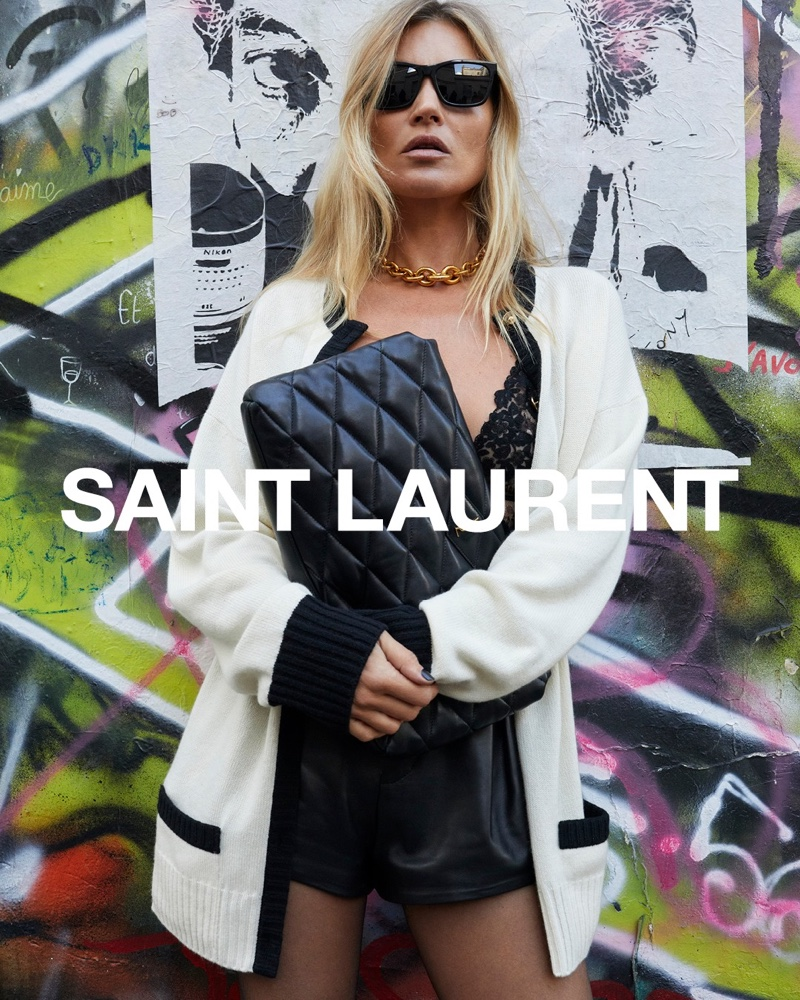 Kate Moss stars in Saint Laurent spring 2021 campaign.