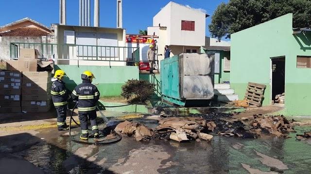 Rio Verde: Incêncio no Hospital municipal mobiliza bombeiros na tarde deste sábado