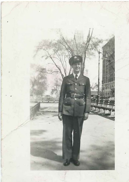 Snapshot of Captain Murray A. Coker in uniform; presumably of Fairfield, Maine
