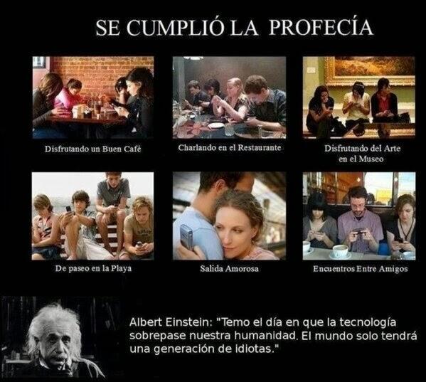 Albert Einstein Temo El Día En Que La Tecnología Sobrepase