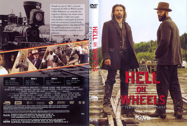 Capa DVD Hell On Wheels Terceira Temporada Completa