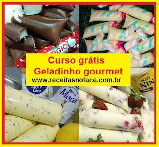 Curso grátis de Geladinho Gourmet