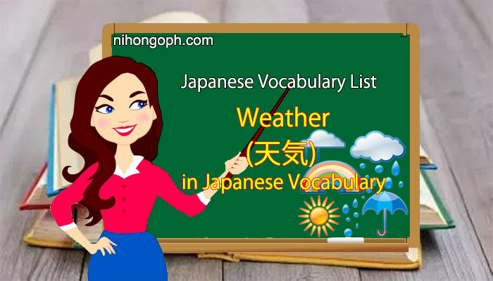 Japanese Weather Vocabulary in Japanese