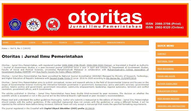 Jurnal Nasional Bidang Ilmu Sosial terakreditasi Nasional (Sinta 2)