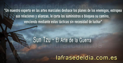 El Arte de la Guerra  en frases célebres de Sun Tzu