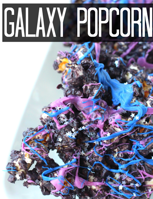 space party food ideas. galaxy popcorn