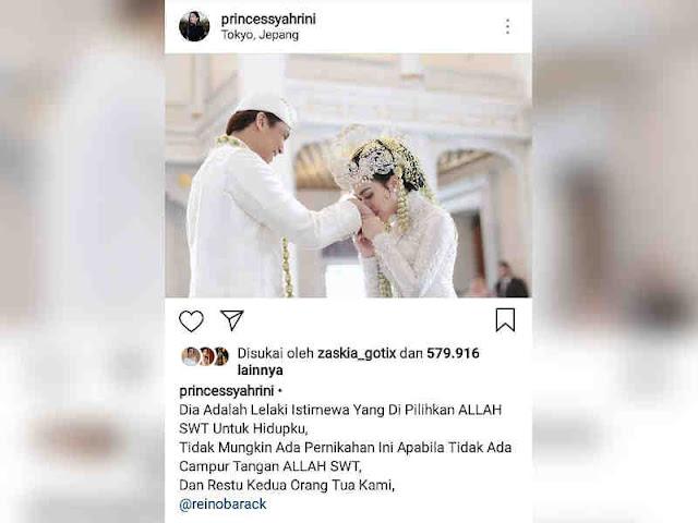 Syahrini Tegaskan Pernikahannya adalah Ijin Allah