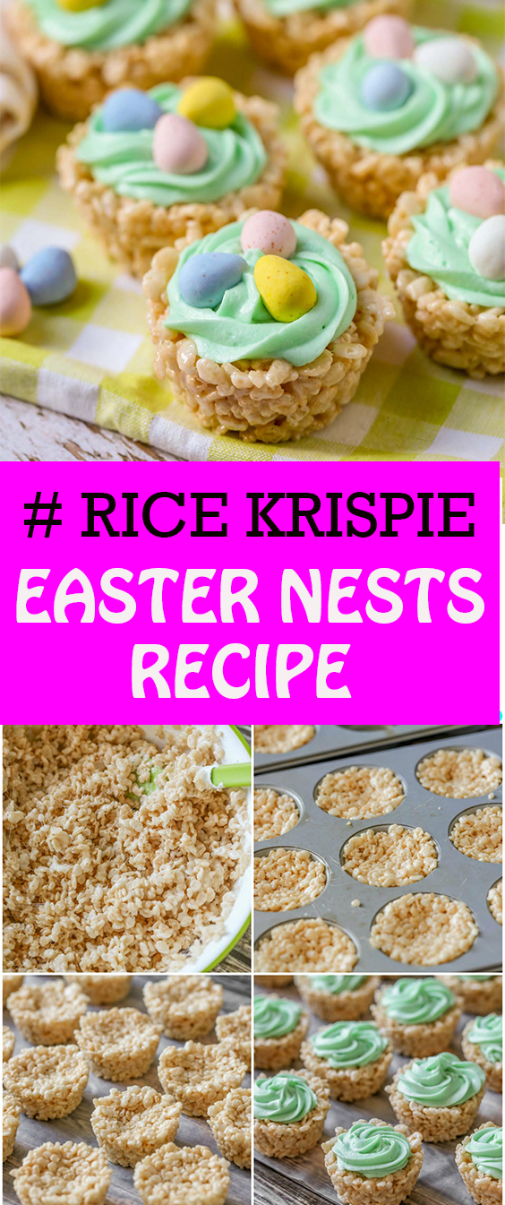 RICE KRISPIE EASTER NESTS RECIPE