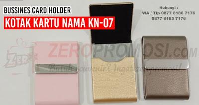 Souvenir Kotak Kartu Nama Kulit, Bussines Card Holder KN-07, Souvenir kantor tempat kartu nama Kulit KN-07