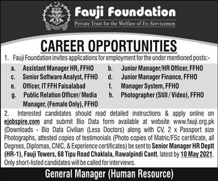 Fuji Foundation Latest Jobs Opportunity 2021