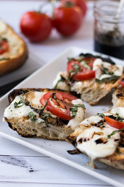 #Open #Faced #Grilled #Caprese #Sandwich