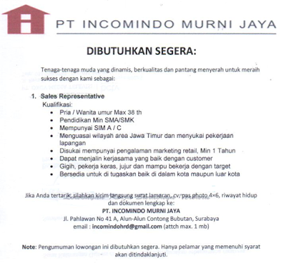 Lowongan Kerja Daerah Surabaya November 2019