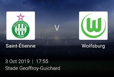 LIVE MATCH: Saint-Étienne Vs Wolfsburg UEFA Europa League 03/10/2019