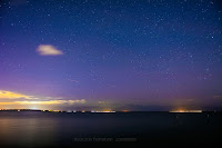 Zorza polarna sfotografowana w noc z 7 na 8 listopada 2017 r. Rewa, pomorskie. Autor: Marek Stan