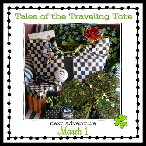 Look for Tales of the Traveling Tote #14