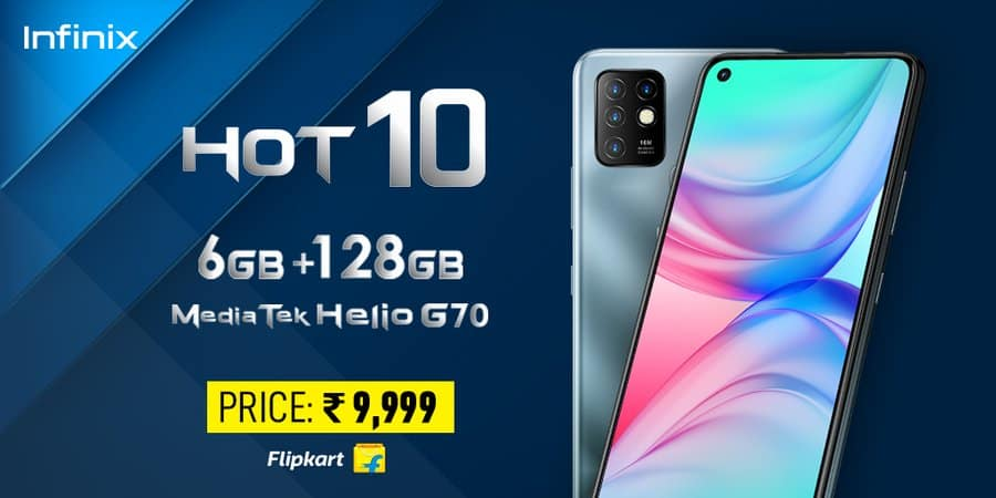 Infinix Hot 10 launched in india at Rs 9,999 with 6GB ram and 128GB storage