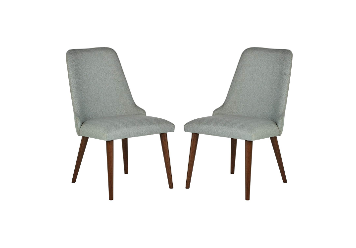Rivet Federal Mid-Century Latest Wood Dining Chair, Pack of 2, Green