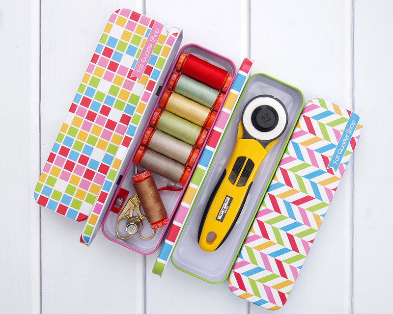 Storage solutions for sewing supplies and notions.