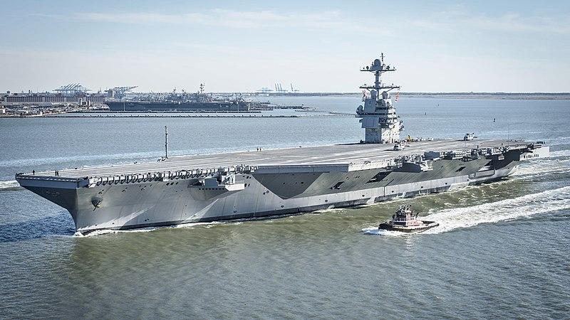 """حاملة الطائرات يو إس إس جيرالد فورد """"FORD CVN-78""""  - أسلحة الجيش الأمريكي - ميزانية الجيش الأمريكي 2021"""