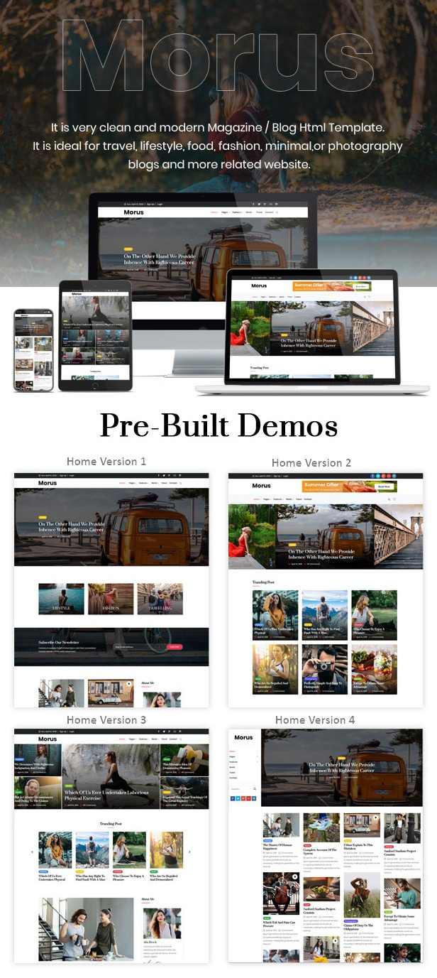 Personal Blog & Magazine HTML Template