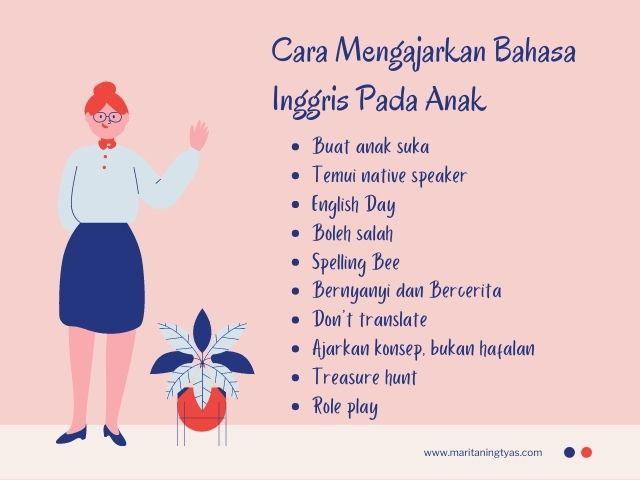 tips mengajarkan anak bahasa inggris