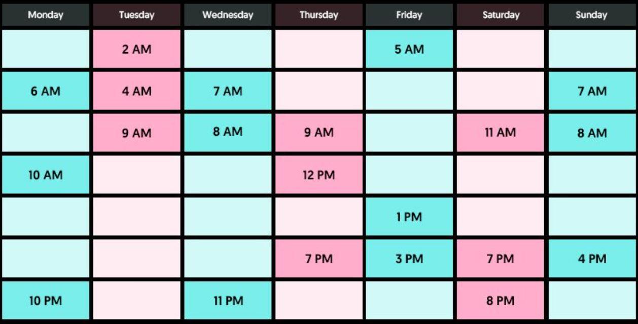 tabel jadwal upload agar fyp