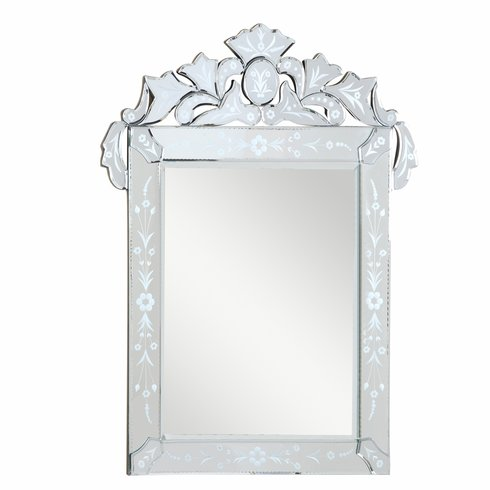 Venetial style Cut Glass Etched Mirror