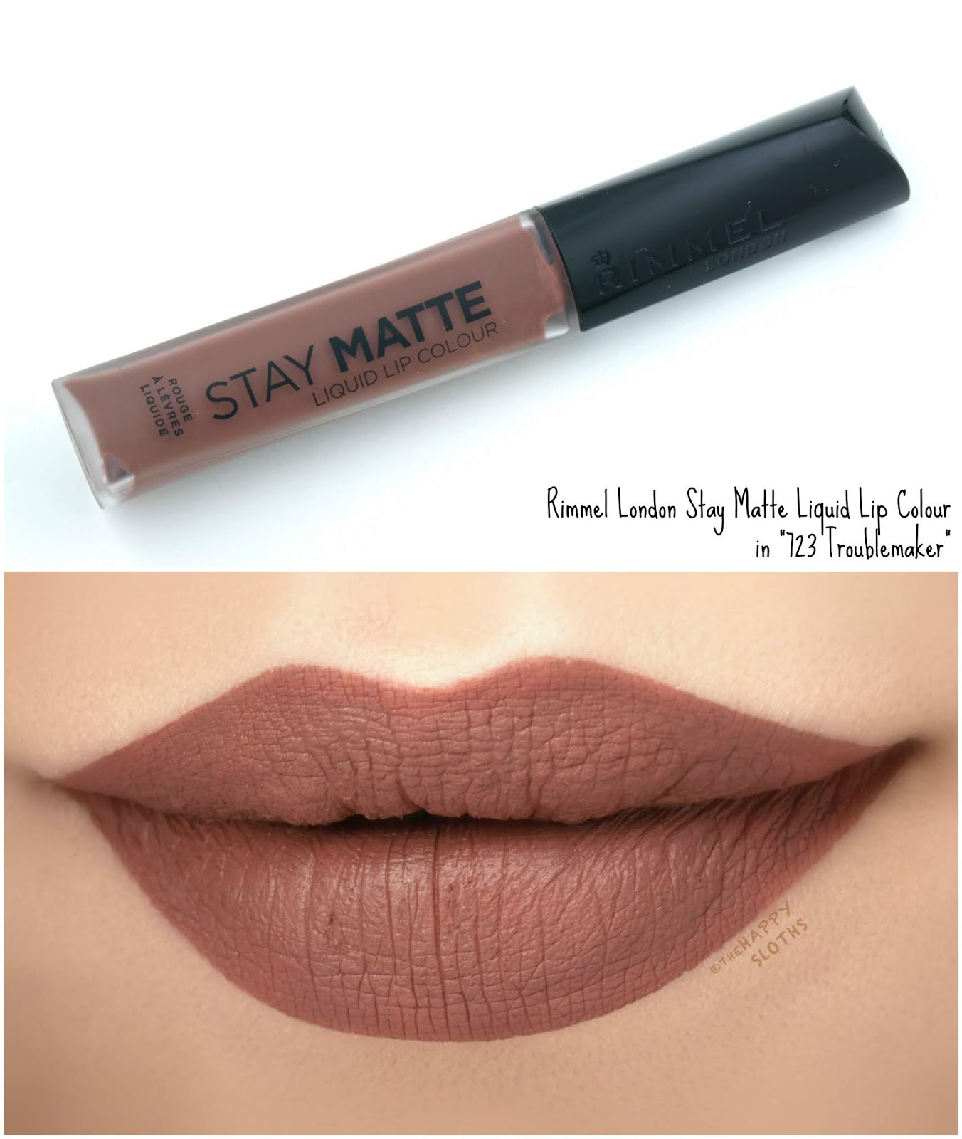"Rimmel London | Stay Matte Liquid Lip Colour in ""723 Troublemaker"": Review and Swatches"