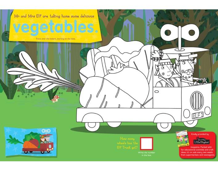 Dibujos De Ben Y Holly Para Colorear Imprimir: El Pequeño Reino De Ben Y Holly: Colorear Ben Y Holly