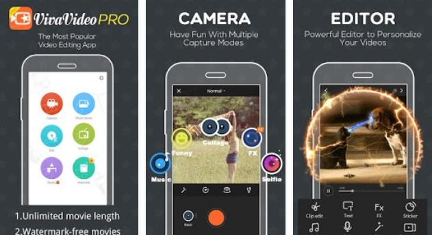 Tampilan Aplikasi VivaVideo Pro