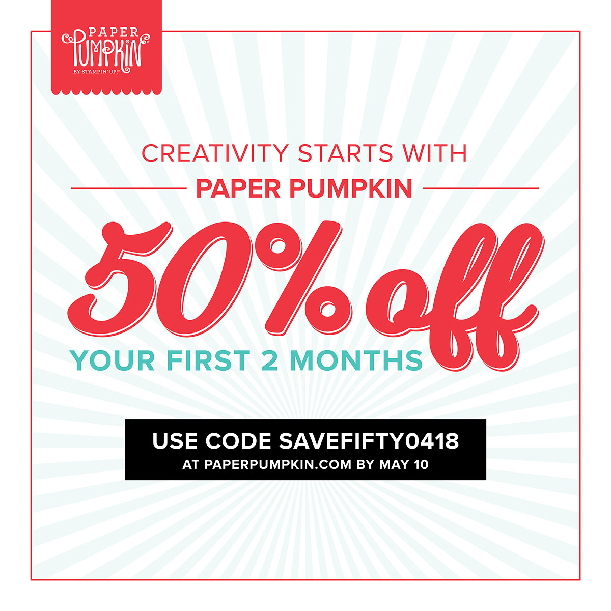 Creativity Starts With Paper Pumpkin