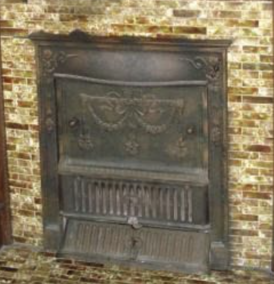 closeup of Sears summer cover 128 for fireplace 3 Elm St Newton NJ Authenticated Sears No 163 of Reuben Talmage