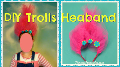 Trolls headband tutorial for Halloween costume