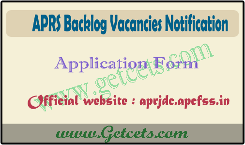 APRS 6th & 7th class backlog seats notification 2020, apply online date