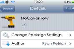 Cara Disable Cover Flow Di iPhone Dengan NoCoverFlow Tweak