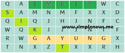 Temukan kata yang dibentuk pada tabel dengan makna berikut! www.simplenews.me