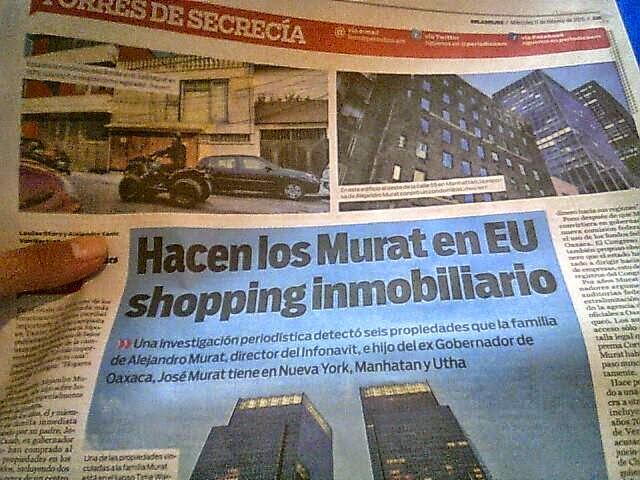 exhibe New York Times a José Murat Alejandro Murat periódico am traducción Jéssica de la Portilla Montaño