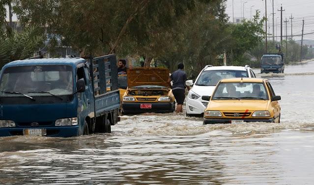 عراقي يسخر من غرق شوارع منطقته بالتعليق على طريقة رؤوف خليف
