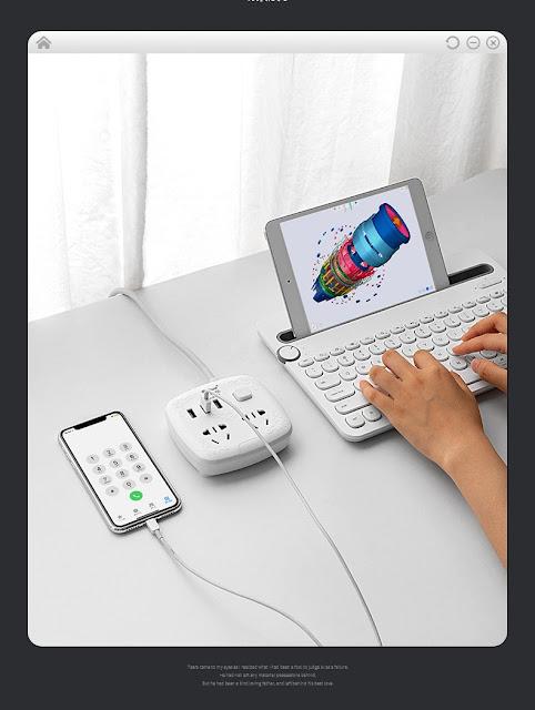 Ổ cắm điện siêu thông minh Ổ cắm 3 cổng USB 2A