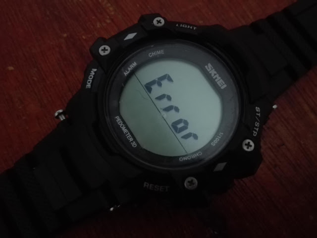 Cara Mengatasi Tulisan Error di Jam tangan SKMEI