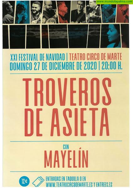 Troveros de Asieta y Mayelín celebran el XXI Festival de Navidad en el Teatro Circo de Marte
