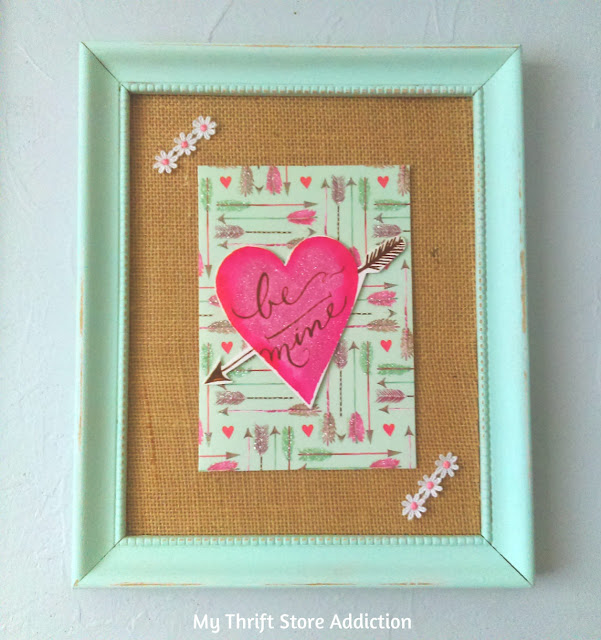 my thrift store addiction  repurposed greeting card valentine art, Greeting card