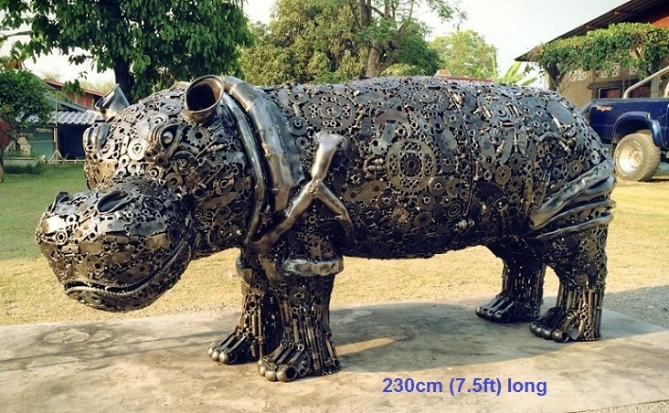 06-Hippo-Namfon-Suktawee-Animals-Art-made-by-Upcycling-Scrap-Metal-in-Thailand-www-designstack-co