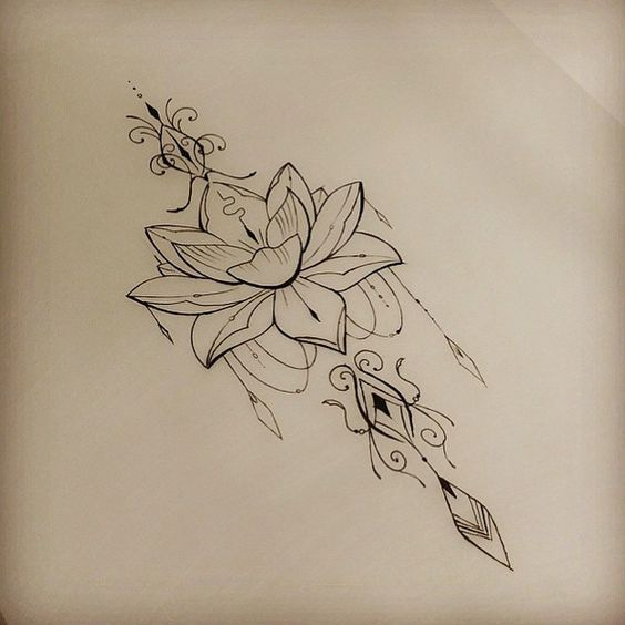 30 Ultra Sexy Lotus Flower Tattoo Designs